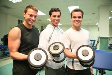 three gym men
