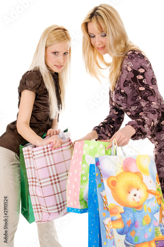 beautiful girls going shopping