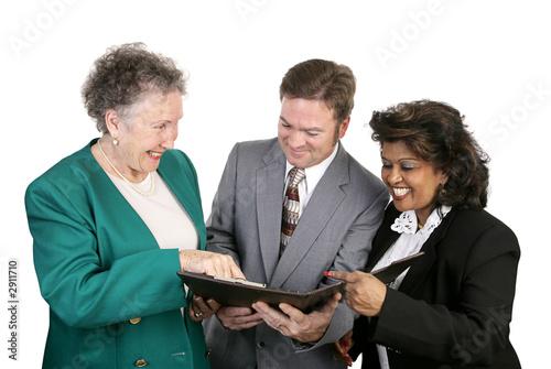 diverse business group - good news