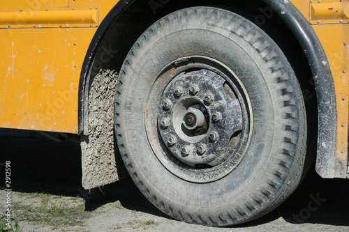 school bus wheel