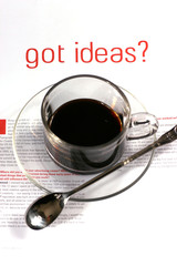 coffee cup with ideas