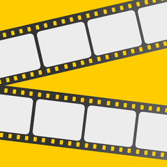 film strip with yellow background