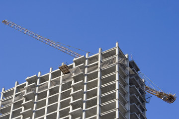 many-storied construction