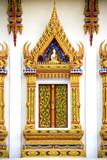 thai buddhist temple window poster