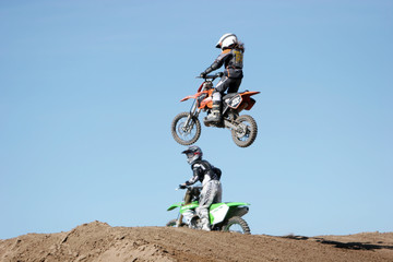 dirt bike airborne