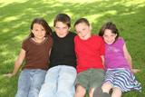 Four Happy Caucasian Children poster