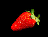 dramatic red strawberry poster