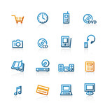 contour e-commerce icons poster