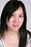 chinese woman portrait with eye contact poster