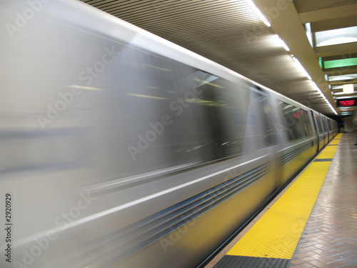 fast moving bart subway train - 2920929