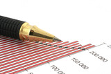 pen tip and business chart #2 poster