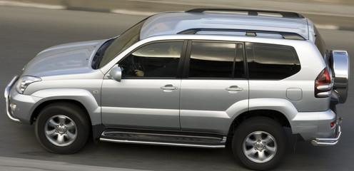 luxury suv toyota landcruiser prado speed on road