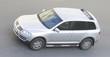 Leinwandbild Motiv some silver luxury suv car drives fast