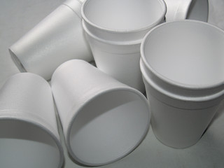 disposable foam cups - non biodegradable