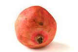 whole pomegranat on white poster