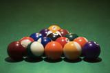 rack of pool balls. poster