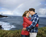 couple vacationing in maui, hawaii. poster