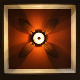 low angle view of ceiling fan lamp. poster