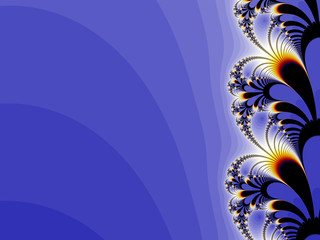 floral blue background design