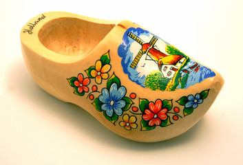 wooden dutch shoe