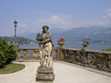 statue in lake como villa poster