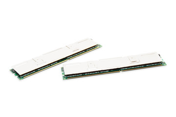 computer memory modules (isolated on white)