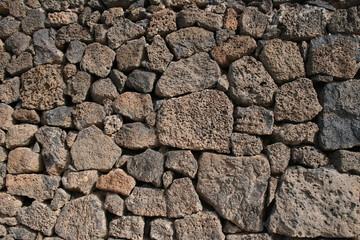 dry stone wall.