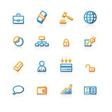 contour business icons poster