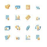 contour finance icons poster