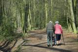 elderly couple walking poster