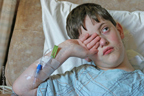 boy in the hospital