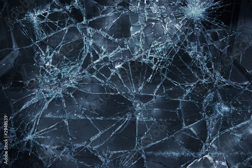 Leinwandbild Motiv broken window