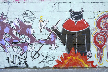 diobolisch gutes graffiti