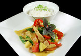 creamy thai chicken curry 1 poster