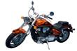 vintage motocycle. chopper. isolated over white