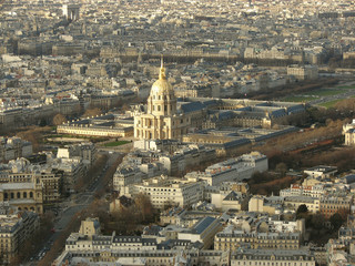 panorama of paris. the house of invalids.