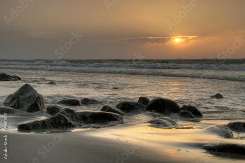 Leinwanddruck Bild a gentle sunset