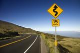 Road in Haleakala National Park, Maui, Hawaii. poster