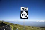 Highway 378, Haleakala National Park, Maui, Hawaii. poster