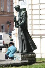 saint francis and beggar