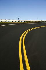 Curving road.