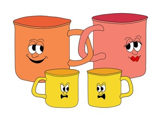 family of mugs