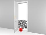 red leadership opened door poster