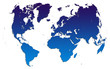 blue gradient world map