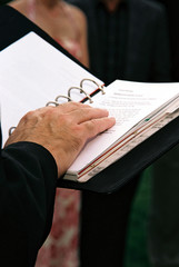 preachers hand