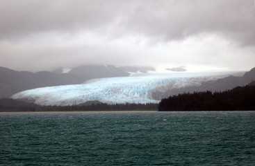 glacier in prince william sound alaska