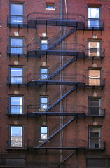 z shaped fire escape