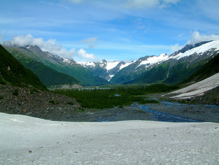 hiking near portage glacier