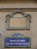 boulevard du montparnasse. poster