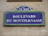 boulevard du montaparnasse (14ème arrt). poster